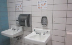 Picture of soap missing in the boys bathroom